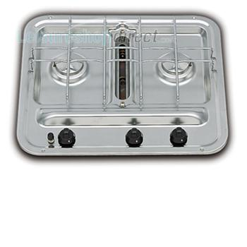 Smev 2 Burner Stainless Steel Caravan Hob ~~~ Grill with Piezo