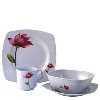 Floral Melamine Side Plate