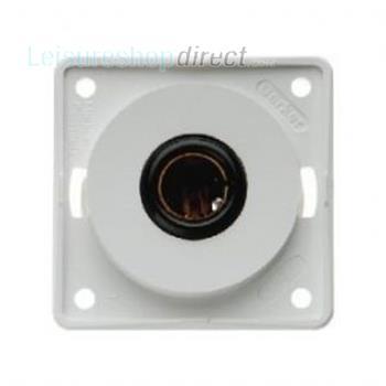 Berker 12v Single Pole Socket - White