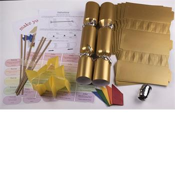 "10 X Make your own Large (14"" / 35cm) cracker kit - Gold"