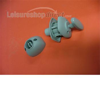 Door retainer grey - pull lever