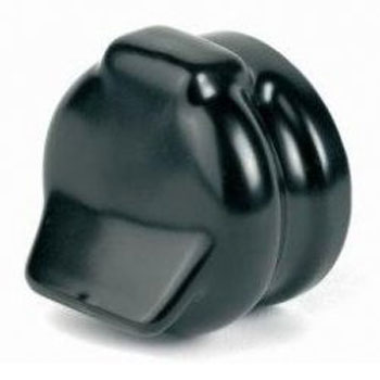 Socket cover for 7 pin socket - black