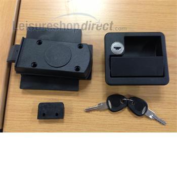 Rectangular Locker Door Lock - black