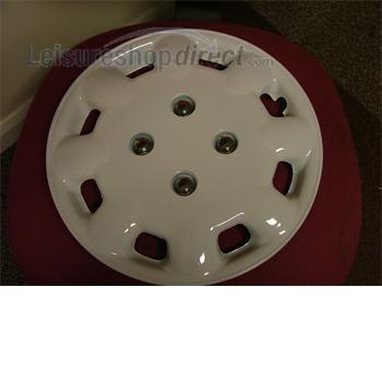 13in wheel trim white