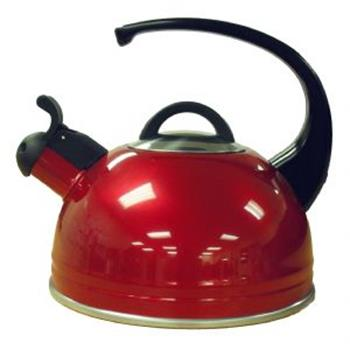 2.1lt Whistling Kettle - Red - laquered finish