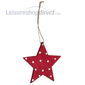 Christmas Retrospot Star - Wood