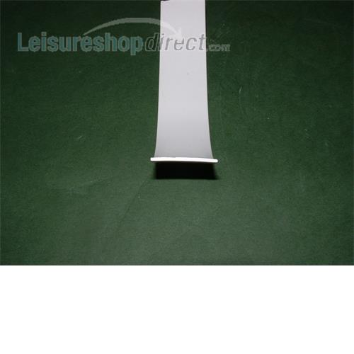 Plastic insert 23mm white for opening caravan window rubber