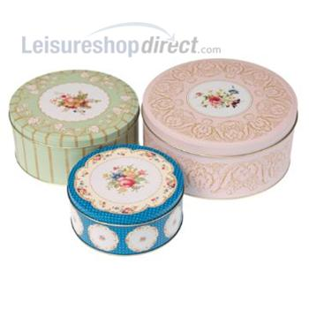 SET OF 3 REGENCY CAKE TINS