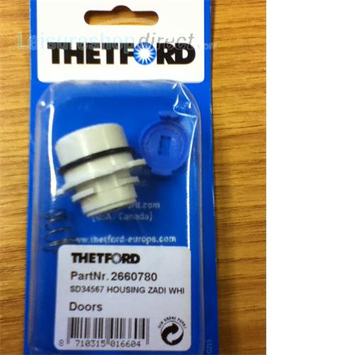 Lock barrel casing for Thetford Service doors 3,4 & 5 - White image 1