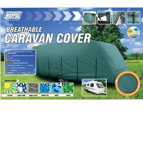 Maypole 4 Ply Caravan Cover - Grey Fits up to 6.8M-7.4M (23-25')