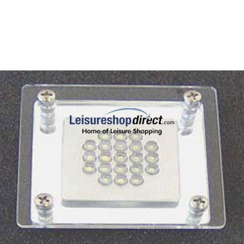 Super Bright LED Square Lamp with Glass Cover