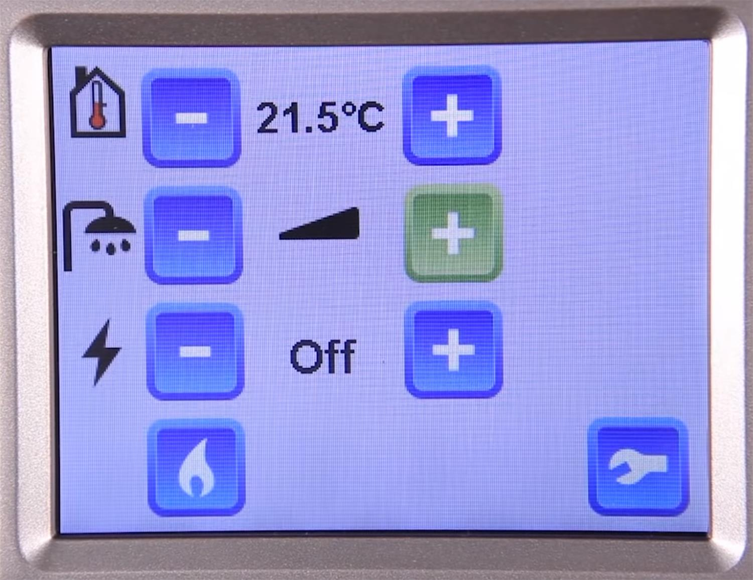On max, the Alde 3020 control panel will get your boiler to give you a hot water boost for 30 mins.
