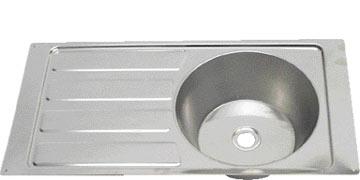 Steelbrite Sink And Drainer 21 3/4 x 14 inch