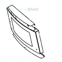Dometic Door Glass with Hinge Guide - - Dometic RMt7651l