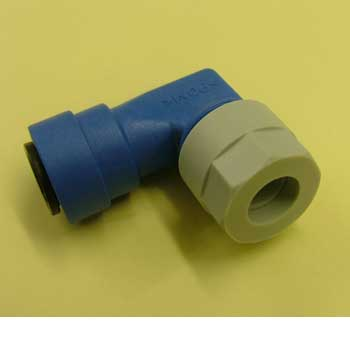 Elbow Fitting for Truma Boilers, 12mm Blue