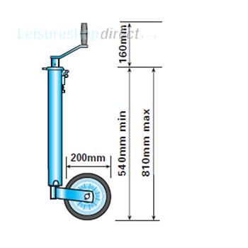 Heavy Duty Jockey Wheel 42mm shaft