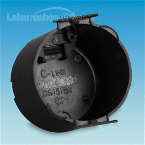 Circular Back Box for C-Line sockets image 1