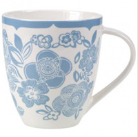 Cath Kidston Stensil Flowers Crush Mug - Blue
