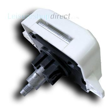 Push Button Rim Lock White 25mm