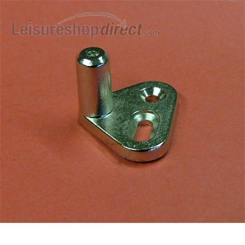 Plate for rod hooks (toilet door lock)