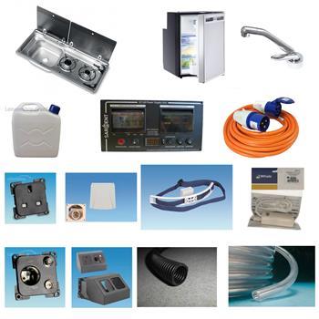 Smev MO9722LP Hob and Sink, CRX50 Fridge ~~~ Sargent EC160 Conversion Kit
