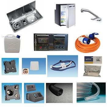 Smev MO9722RP Hob and Sink, CRX50 Fridge ~~~ Sargent EC160 Conversion Kit