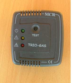 Trio gas alarm - colour black