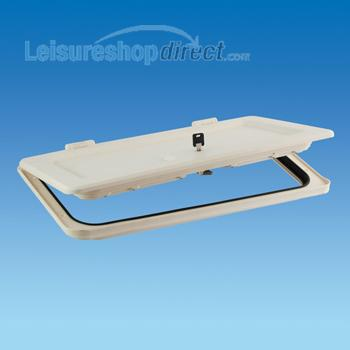Battery Box Door and frame with Infill - white