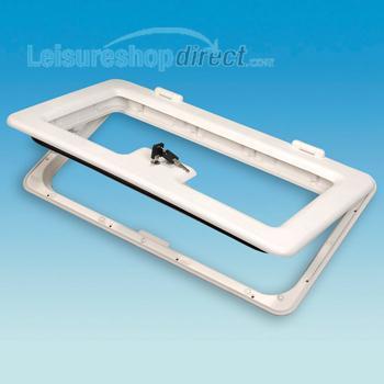 Door and Frame for Battery Box or Locker - white
