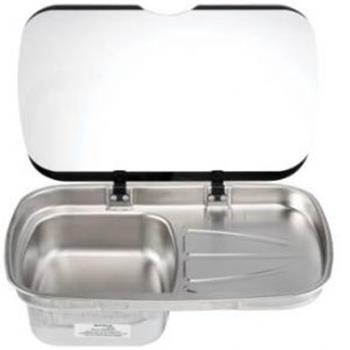 Spinflo Argent Sink  RH -   Stainless with glass lid
