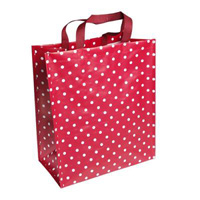 Retro red Spotty Shopping Bag