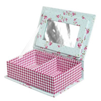 Jewellery Box- Reg Gingham and Rose
