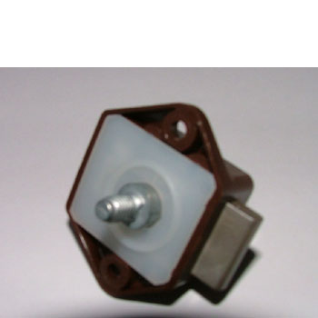 Mini Push Button Lock 15mm Brown