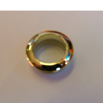 Rosette for mini push button, gold