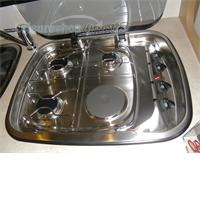 Spinflo Dual Fuel Argent Hob + Spare Parts