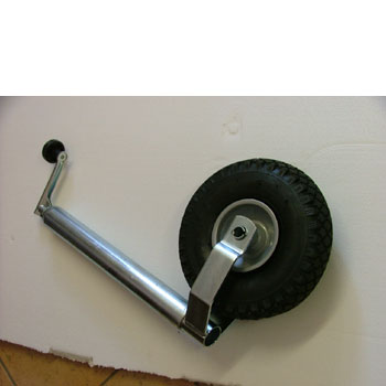 Caravan Jockey Wheel complete 48mm shaft, pneumatic tyre