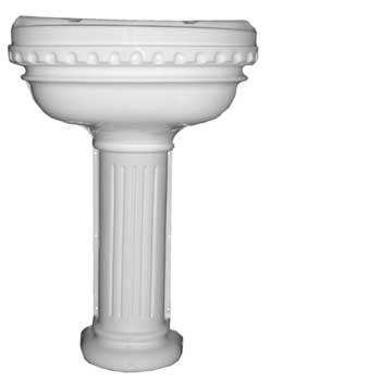 Roman Caravan Basin Sink and Pedestal