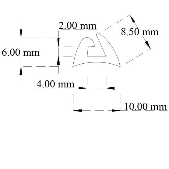 Awning rail rubber (Black) image 3