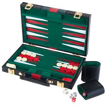 Backgammon in Attache Black Case