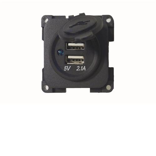 CBE 12v Twin USB Socket - Dark Grey