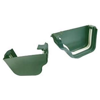 DLS Holiday Home Gutter End Cap Set in Forest Green- Left and Right Hand Caps