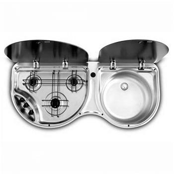 Dometic-Smev 8123 Sink ~~~ 3 Burner Hob Combination