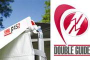 The Fiamma Double Guide allows you to fix up to 2 interchangable panels.