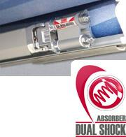 Fiamma's Dual Shock Absorber really protects your awning and your vehicle.