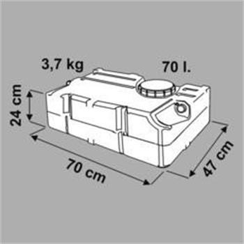 Fiamma 70 Litre Water Tank image 2