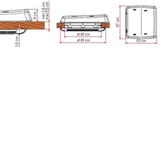 Fiamma Rooflight Vent 160 - 40 x 40cm - Crystal image 4