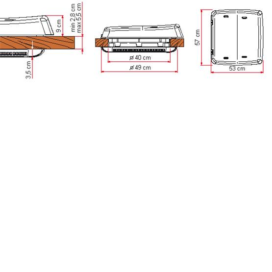 Fiamma Rooflight Vent 160 - 40 x 40cm - White image 3