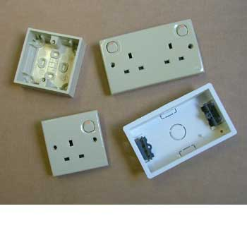 Internal plugs sockets and switches