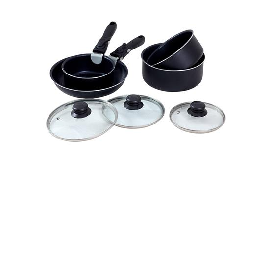 Isabella Stackable pot and frying pan set