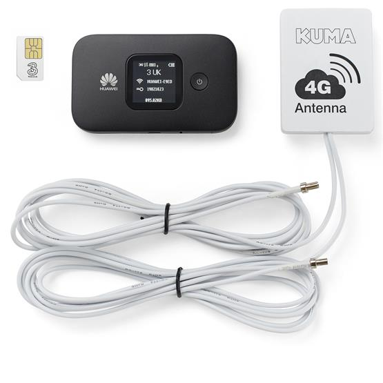Kuma 4G Caravan & Motorhome Mobile Pocket WiFi Kit with Antenna